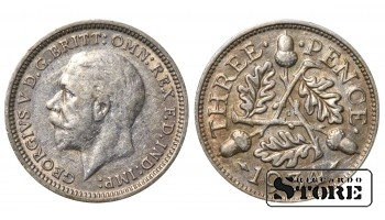 1934 Great Britain UK Coin Silver Ag Coinage Rare 3 Pence KM#831 #UK704