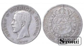 1923 Sweden King Gustav V (1908 - 1950) Coin Coinage Standard 1 krona KM# 786 #14