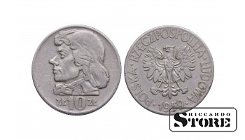 Польша, 10 злотых 1959 год - Тадеуш Костюшко