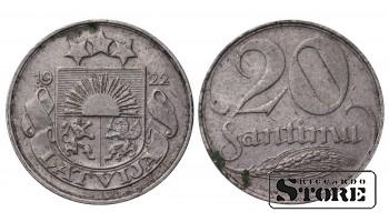 МОНЕТЫ ЛАТВИИ, 20 САНТИМ 1922 ГОД