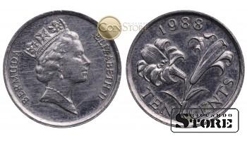 Бермудские острова , 10 центов 1988 год