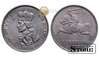 Литва , 10 лит 1936 год , Серебро , 18 г