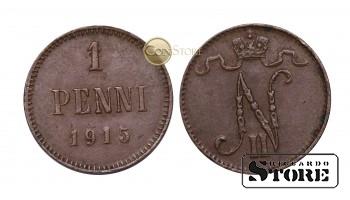 ФИНЛЯНДИЯ , 1 ПЕННИ 1915 ГОД