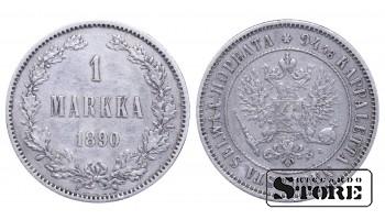 1890 Finland Emperor Nicholas II (1895 - 1917) Coin Coinage Standard 1 markka KM#3 #F348