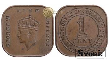 Малайя и Британское Борнео, 1 цент 1945 год
