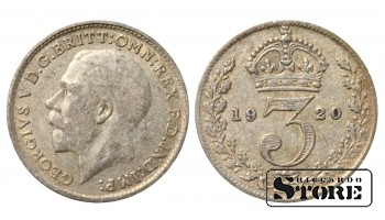1920 Great Britain UK Coin Silver Ag Coinage Rare 3 Pence KM#813a #UK716
