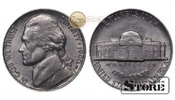 Монеты США , 5 центов - 1990 год P