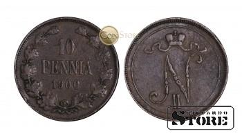 Финляндия , 10 пенни 1900 год