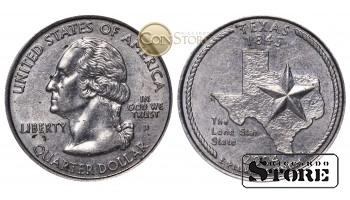 МОНЕТЫ США , 1/4 ДОЛЛАРА - 2004 ГОД D (Квотер штата Техас)