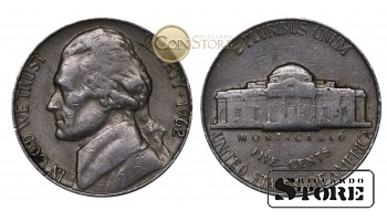 Монеты США , 5 центов - 1962 год