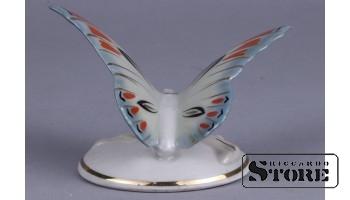 Tauriņš, porcelāns, Rīga, Rīgas porcelāna rūpnīca, 1950tie gadi, 6 cm