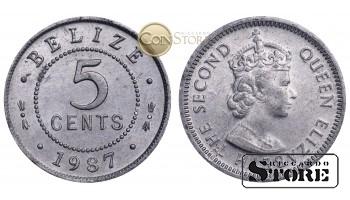 Белиз , 5 центов 1987 год