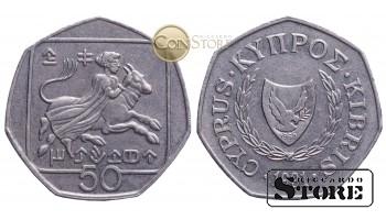 Кипр , 50 центов 1991 год