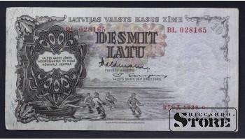 БАНКНОТА , ЛАТВИЯ , 10 ЛАТ 1939 год - BL 028165