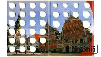 Альбом-планшет для монет Латвии