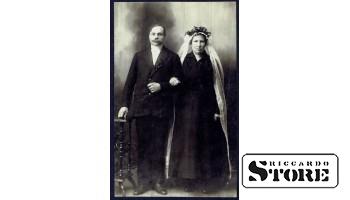 Старинная открытка времён Ульманиса. Второй брак