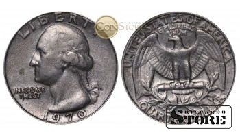 Монеты США , 1/4 доллара - 1970 год D
