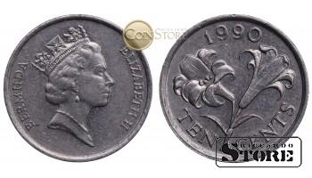 Бермудские острова , 10 центов 1990 год