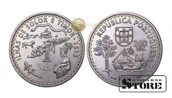 Португалия , 200 эскудо, 1995 год (480 лет островам Солор и Тимор)