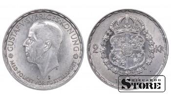 1946 Sweden King Gustav V (1908 - 1950) Coin Coinage Standard 2 Kronor KM#815 #SW102