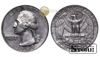 Монеты США , 1/4 доллара - 1989 год D