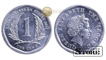 Восточные Карибы , 1 цент  2011 год