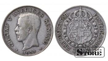 1937 Sweden King Gustav V (1908 - 1950) Coin Coinage Standard 1 krona KM# 786 #2