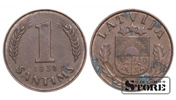 1936 Latvia First Republic (1922 - 1940) Coin Coinage Standard 1 Santims KM#1 #LV469