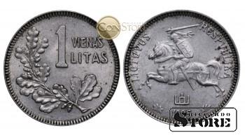 Литва , 1 лит 1925 год , Серебро , 2.7 г