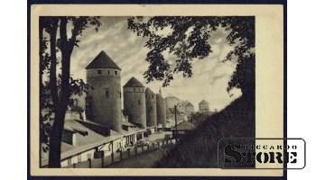 Старинная открытка Таллинн. Сторожевые башни