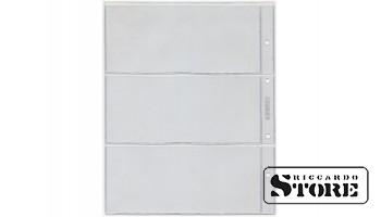 Лист вертикальный для бон, открыток 192х218 мм на 3 боны 170х68 мм, формат Numis