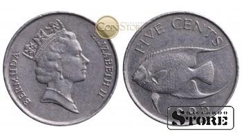 Бермудские острова , 5 центов 1995 год