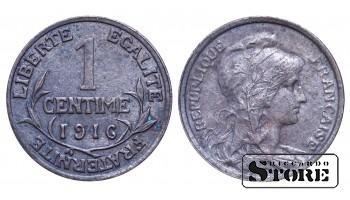 Франция , 1 сантим 1916 год