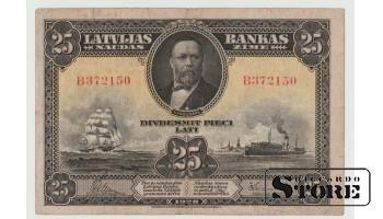 БАНКНОТА, 25 Лат 1928 год - B372150
