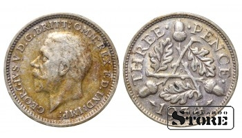 1934 Great Britain UK Coin Silver Ag Coinage Rare 3 Pence KM#831 #UK715