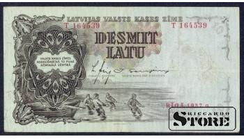 БАНКНОТА , ЛАТВИЯ , 10 ЛАТ 1937 ГОД - T 164539