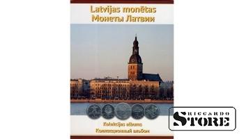 Планшет для монет Латвии