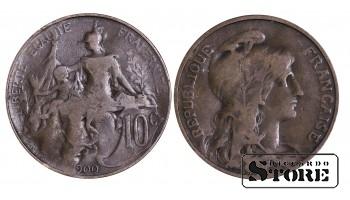 Франция , 10 сантимов 1900 год