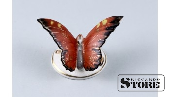Фарфоровая статуэтка Бабочка, Пуансетии