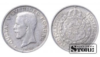 1938 Sweden King Gustav V (1908 - 1950) Coin Coinage Standard 1 krona KM# 786 #19