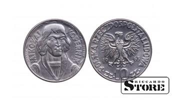 Польша, 10 злотых 1965 год - Николай Коперник.