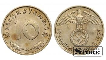 1937 Germany Nazi Germany (Third Reich) (1933 - 1945) Coin Coinage Standard 10 reichspfennig KM#92 #G479