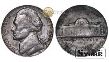 Монеты США , 5 центов - 1966 год