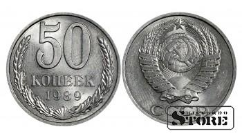 Монета, СССР , 50 копеек 1989 год - Штемпельный блеск