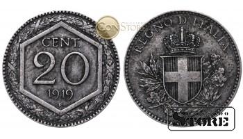 Италия , 20 сантим 1919 ГОД