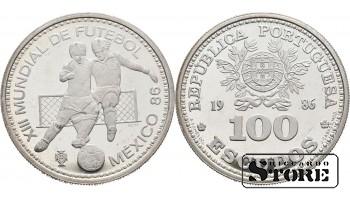 Монета 100 эскудо 1986 год Португалия. Чемпионат мира по футболу 1986, Мексика