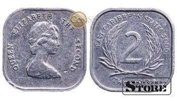 Восточные Карибы , 2 цента 2000 год