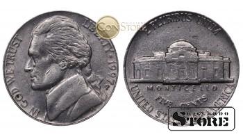 Монеты США , 5 центов - 1997 год P