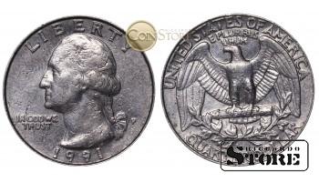 Монеты США , 1/4 доллара - 1991 P