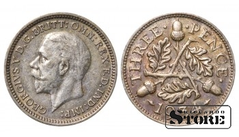 1934 Great Britain UK Coin Silver Ag Coinage Rare 3 Pence KM#831 #UK713